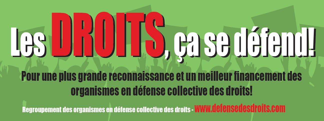 Bandeau - LES DROITS, u00C7A SE Du00C9FEND