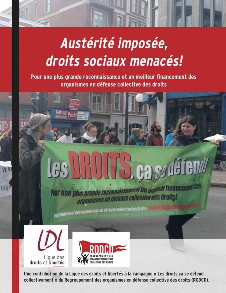 Austérité imposée_droits sociaux menacés